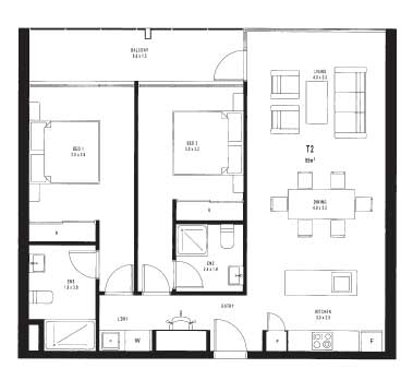 Apartment 5 neo apartments northlakes australian for Apartment floor plans australia